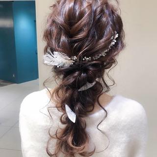 パーティ ヘアアレンジ ロング 結婚式 ヘアスタイルや髪型の写真・画像