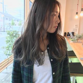 外国人風 セミロング 外国人風カラー ストリート ヘアスタイルや髪型の写真・画像