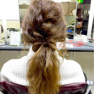コンサバ 愛され ヘアアレンジ 編み込み ヘアスタイルや髪型の写真・画像