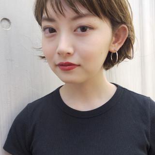前髪あり 色気 ショート ナチュラル ヘアスタイルや髪型の写真・画像