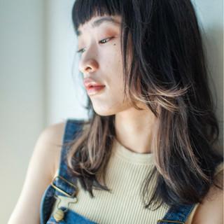 モード インナーカラー ハイライト 外国人風カラー ヘアスタイルや髪型の写真・画像