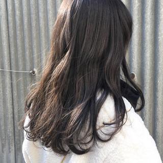デート ブルーアッシュ 大人かわいい アッシュベージュ ヘアスタイルや髪型の写真・画像