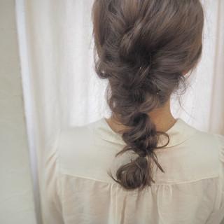 簡単ヘアアレンジ ヘアアレンジ ロング くるりんぱ ヘアスタイルや髪型の写真・画像