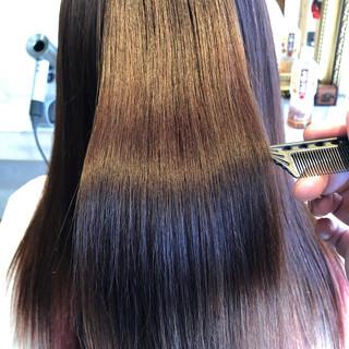 美髪 髪質改善カラー 髪質改善トリートメント ロング ヘアスタイルや髪型の写真・画像