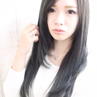 グラデーションカラー 外国人風 ストレート ロング ヘアスタイルや髪型の写真・画像