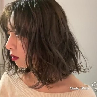 アンニュイほつれヘア グレージュ 透明感カラー ボブ ヘアスタイルや髪型の写真・画像