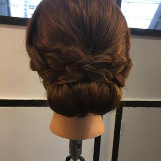 ナチュラル ヘアアレンジ ロング ギブソンタック ヘアスタイルや髪型の写真・画像 ヘアスタイルや髪型の写真・画像