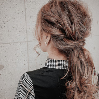ヘアアレンジ ヘアセット 結婚式 フェミニン ヘアスタイルや髪型の写真・画像