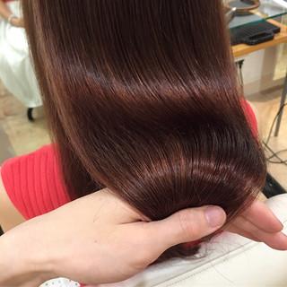 トリートメント サラサラ フェミニン ロング ヘアスタイルや髪型の写真・画像