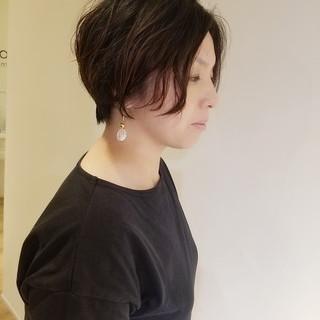 ナチュラル ショートカット ショート ハンサムショート ヘアスタイルや髪型の写真・画像