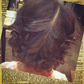 編み込み フィッシュボーン ガーリー モテ髪 ヘアスタイルや髪型の写真・画像