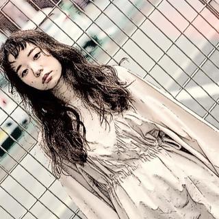 アッシュ ナチュラル セミロング 大人ヘアスタイル ヘアスタイルや髪型の写真・画像