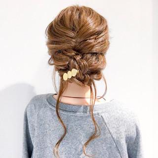 デート 結婚式 ヘアアレンジ 編み込み ヘアスタイルや髪型の写真・画像 ヘアスタイルや髪型の写真・画像