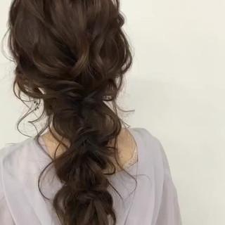 セミロング アンニュイほつれヘア ヘアアレンジ ゆるナチュラル ヘアスタイルや髪型の写真・画像