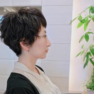 結婚式 ショート デート オフィス ヘアスタイルや髪型の写真・画像