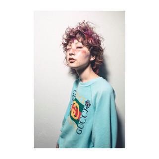 ショート ゆるふわ ウェーブ 女子力 ヘアスタイルや髪型の写真・画像