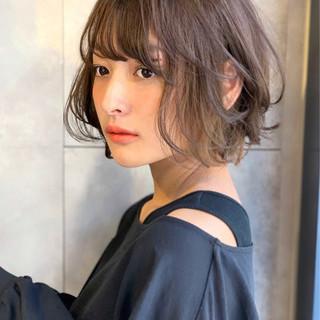 ショート ショートヘア ナチュラル ハイライト ヘアスタイルや髪型の写真・画像