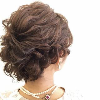 ヘアアレンジ ボブ 結婚式 ツイスト ヘアスタイルや髪型の写真・画像