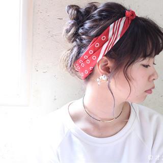 外国人風 ゆるふわ ミディアム ヘアアレンジ ヘアスタイルや髪型の写真・画像 ヘアスタイルや髪型の写真・画像