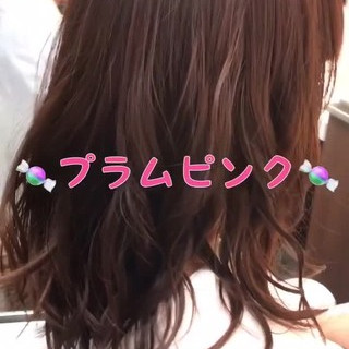 ナチュラル ピンク ラベンダーピンク ロング ヘアスタイルや髪型の写真・画像