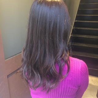 ブラウンベージュ ショコラブラウン 美髪 セミロング ヘアスタイルや髪型の写真・画像