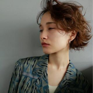 束感 ボブ 外国人風 パーマ ヘアスタイルや髪型の写真・画像