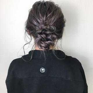 ミディアム ガーリー 外国人風カラー パープル ヘアスタイルや髪型の写真・画像