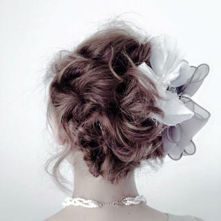 フリンジバング ヘアアレンジ セミロング 大人女子 ヘアスタイルや髪型の写真・画像