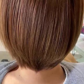 フェミニン 髪質改善 ショート 3Dハイライト ヘアスタイルや髪型の写真・画像