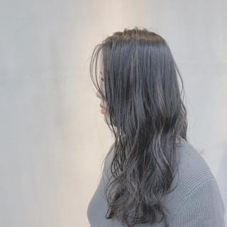 ロング ハイライト 外国人風カラー グレージュ ヘアスタイルや髪型の写真・画像
