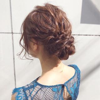 アンニュイほつれヘア セミロング ヘアアレンジ デート ヘアスタイルや髪型の写真・画像