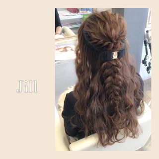 ヘアアレンジ ハーフアップ ロング ショート ヘアスタイルや髪型の写真・画像 ヘアスタイルや髪型の写真・画像