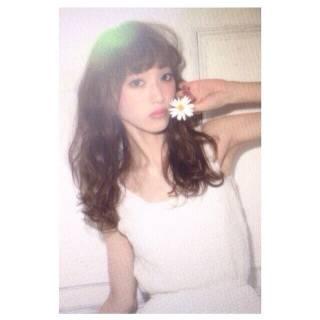 フェミニン 暗髪 ウェットヘア ロング ヘアスタイルや髪型の写真・画像