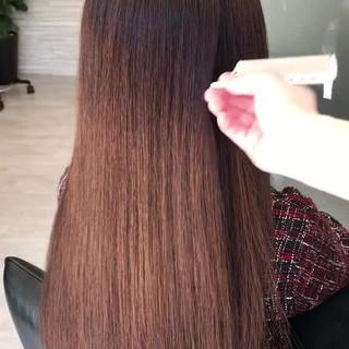 デート 最新トリートメント 髪質改善 ロング ヘアスタイルや髪型の写真・画像
