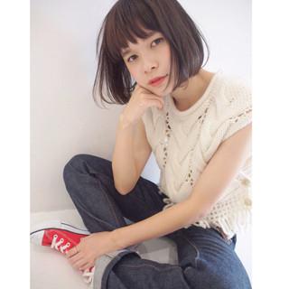 暗髪 色気 ガーリー 冬 ヘアスタイルや髪型の写真・画像