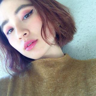 色気 モード ボブ 外国人風 ヘアスタイルや髪型の写真・画像