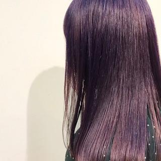 成人式 ガーリー パープルカラー デート ヘアスタイルや髪型の写真・画像