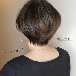 ハイライト ショート ベリーショート ショートヘア ヘアスタイルや髪型の写真・画像