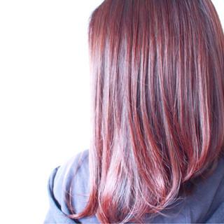 グレージュ ミディアム ラベンダーピンク ナチュラル ヘアスタイルや髪型の写真・画像