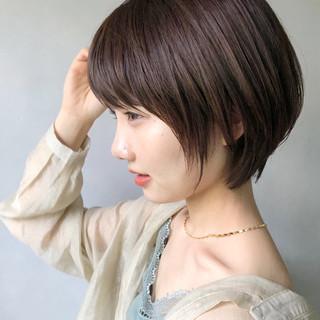 マッシュヘア デジタルパーマ ナチュラル ショート ヘアスタイルや髪型の写真・画像