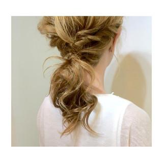 簡単 大人かわいい ミディアム 簡単ヘアアレンジ ヘアスタイルや髪型の写真・画像