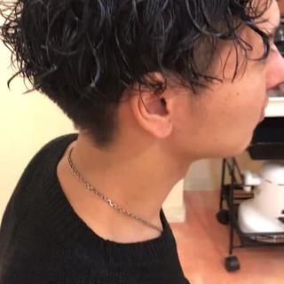 ナチュラル ボーイッシュ 坊主 パーマ ヘアスタイルや髪型の写真・画像