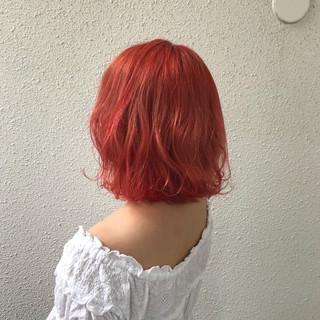 ブリーチ 外国人風 フェミニン ダブルカラー ヘアスタイルや髪型の写真・画像