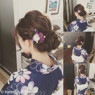 ラフ お祭り 夏 波ウェーブ ヘアスタイルや髪型の写真・画像