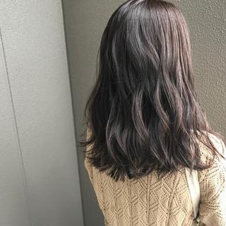 女子力 アウトドア 透明感 グレージュ ヘアスタイルや髪型の写真・画像