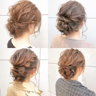 結婚式 オフィス 簡単ヘアアレンジ ナチュラル ヘアスタイルや髪型の写真・画像