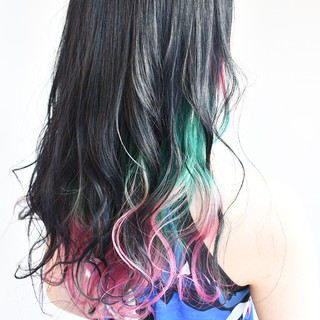 デート フェミニン グラデーションカラー ゆるふわ ヘアスタイルや髪型の写真・画像 | 角谷 洋之 / テクライズ名駅