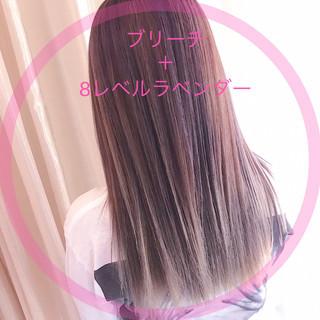 ピンクラベンダー ラベンダーピンク ラベンダーカラー ラベンダーアッシュ ヘアスタイルや髪型の写真・画像