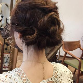 ショート ミディアム フェミニン ギブソンタック ヘアスタイルや髪型の写真・画像