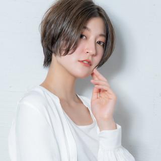 ハンサムショート ナチュラル デート ショート ヘアスタイルや髪型の写真・画像